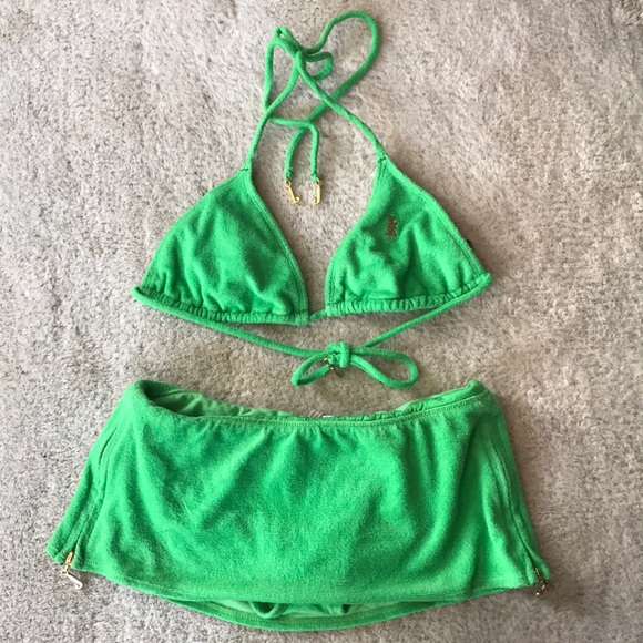 ea55bcfd6c Juicy Couture Other - FREE VISOR Juicy Couture Terry Cloth bikini Set
